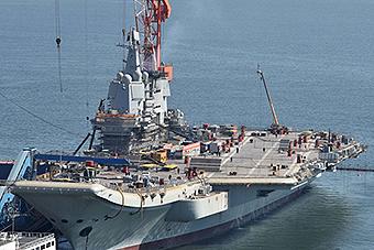 首艘国产航母脚手架拆除试航在即
