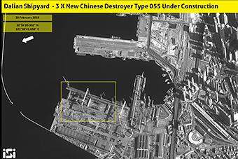 中国第六艘055驱逐舰在大连开工