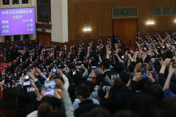 快讯:习近平全票当选为国家主席、中央军委主席