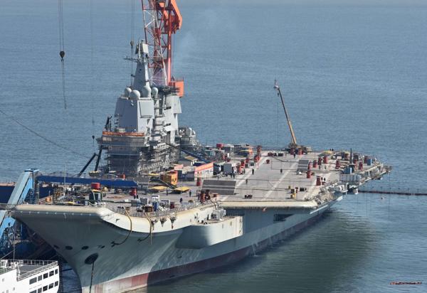 首艘国产航母脚手架拆除完毕试航在即,建成仅用2年