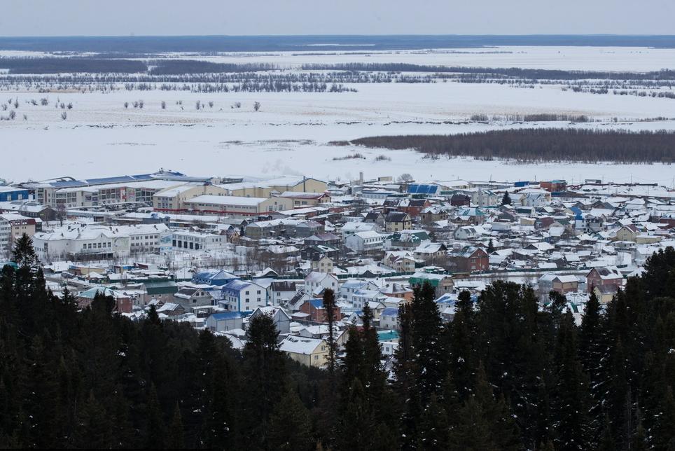 汉特—曼西斯克冬日雪景风光