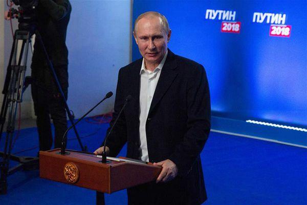 普京在俄总统选举中领先 表示努力得到选民认可