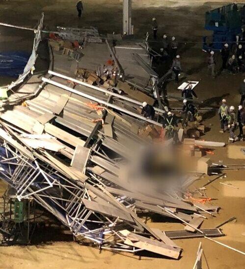 韩国京畿道平泽市一施工现场发生坠落事故 1死4伤