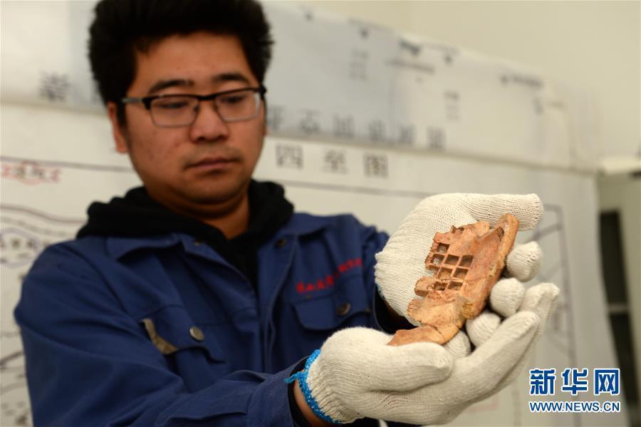 秦咸阳城遗址发现罕见战国晚期卜甲