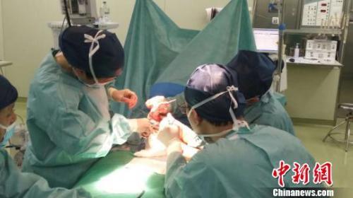 """全球罕见的""""三条腿""""男婴在上海成功接受手术"""