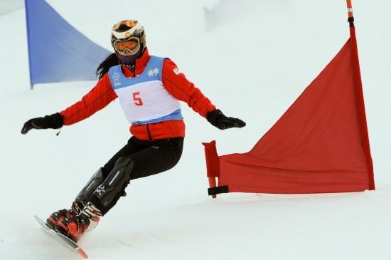 单板滑雪平行回转积分赛 中国选手获得季军
