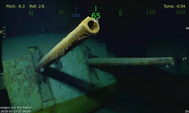 美二战巡洋舰残骸在南太被发现 被日本鱼雷击沉
