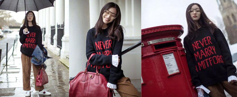 倪妮突然更新微博,露袖子穿毛衣逛伦敦美得大家狂存图