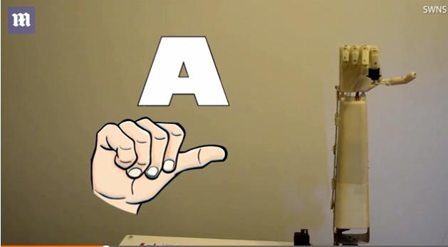 比利时科学家发明3D打印机械手 可帮助聋哑人沟通