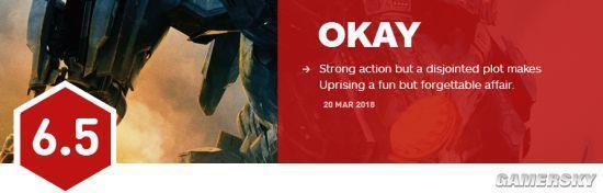 《环太平洋2》口碑解禁:IGN 6.5分