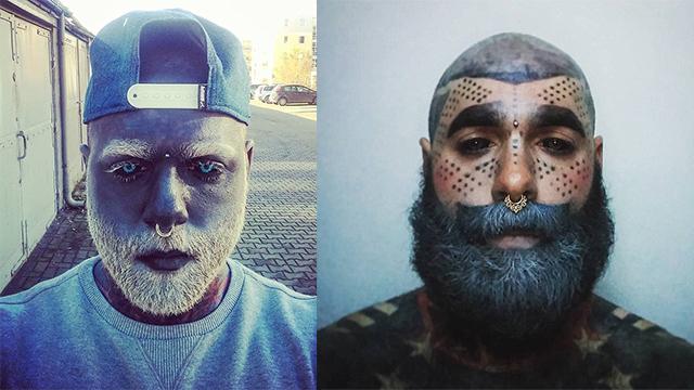 英国男子90%皮肤布满纹身 连眼球也不放过