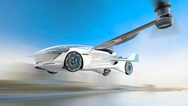 无需跑道 电动垂直起降飞行车概念来了