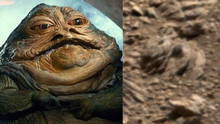 NASA火星图像里发现了《星战》赫特人贾巴的身影