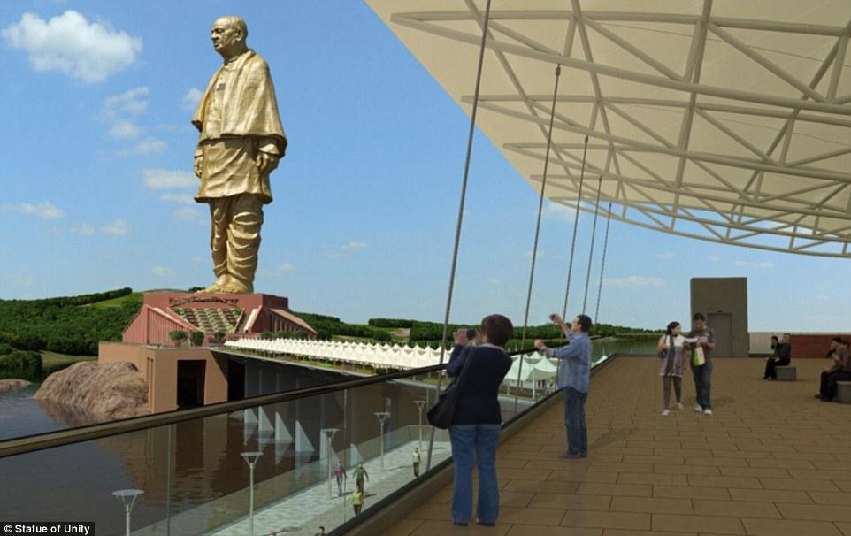 印度将建成世界最高雕像 超越中国鲁山大佛