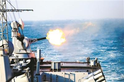 东海舰队实战化训练:弹幕摧毁新型高速靶机(图)