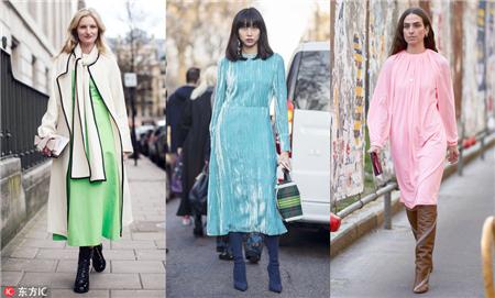 选条纯色连衣裙作为你的开春第一美吧!