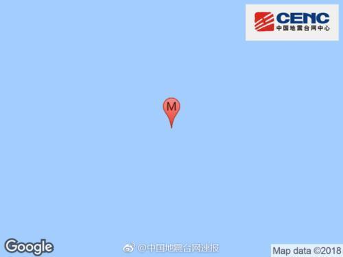 东南印度洋海岭发生5.9级地震 震源深度10千米