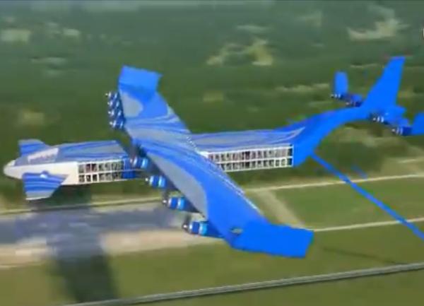 俄著名新概念设计公司展示飞行火车