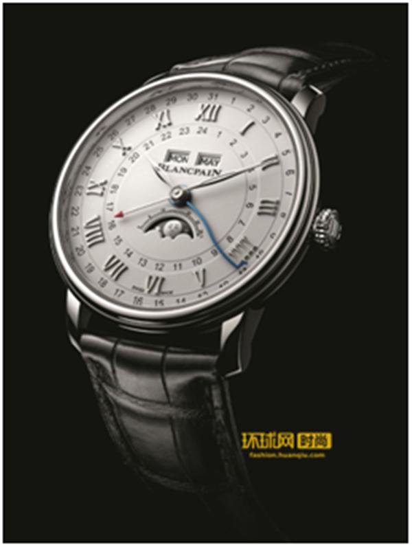 历法大师宝珀Blancpain的全新演绎—— Villeret经典系列两地时全历月相腕表