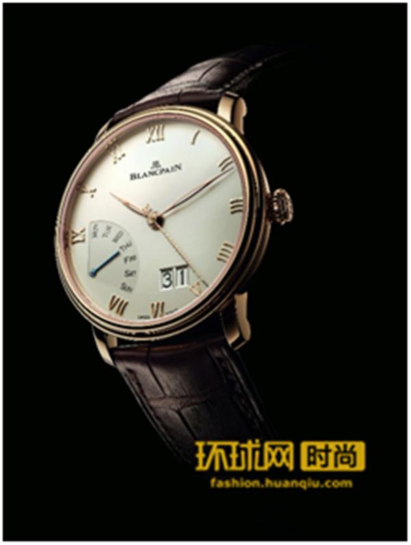 宝珀Blancpain全新Villeret经典系列大日期逆跳星期腕表