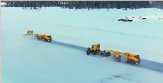 无人驾驶扫雪车挪威机场