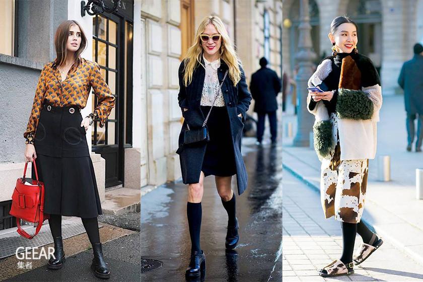裙装丰富冬季搭配,冬日这样穿既时尚也很保暖