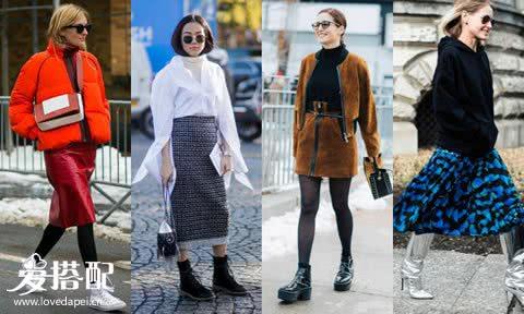 冬季会穿半身裙,这样才够优雅女人!