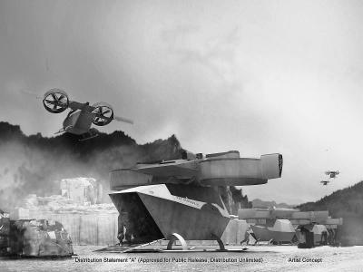 美国海军陆战队研发大型垂直起降无人机