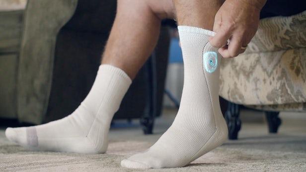 电子袜能检查糖尿病患者脚部是否发热