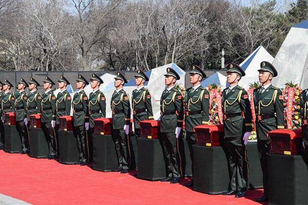 第五批在韩中国人民志愿军烈士遗骸在沈阳安葬
