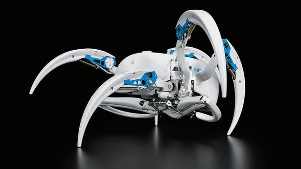 德公司制造仿生机器蜘蛛 还会翻跟头哦!