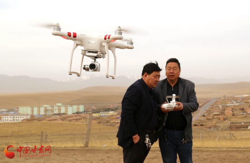 张掖山丹:无人机助力森林草原防火巡查