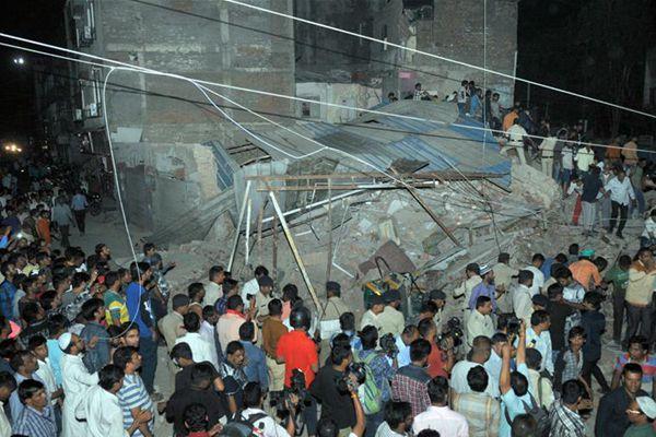 印度中央邦一旅馆倒塌至少9人死亡