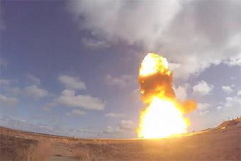 俄超强反导拦截弹第三次试射 可拦截洲际导弹