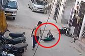 印度恶犬街上乱蹿乱咬致三名儿童受伤住院