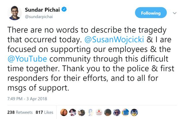 YouTube总部遭枪击 女嫌犯枪杀男友后已自尽