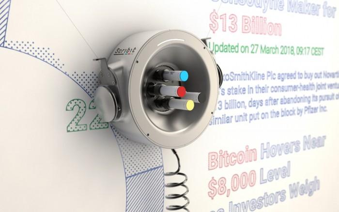两颗钉子一个电源 这个机器人就是墙壁涂鸦大师