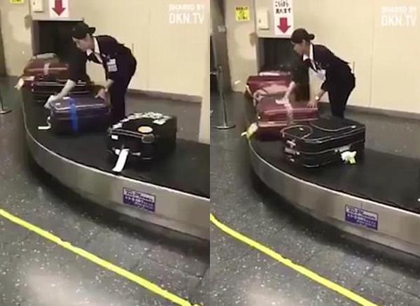 没对比就没伤害!日机场职员擦拭乘客行李箱获赞