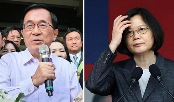 陈水扁大赞蔡英文人事案 网友直言:祸害台湾