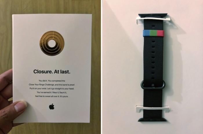 苹果员工拿到健身挑战奖:独特的Apple Watch表带