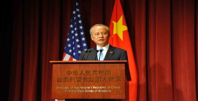 贸易战正酣,中国大使正告美国:没有人能阻止中国统一,咱拭目以待!