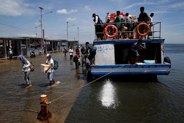 海平面上升 印尼首都40%已在海平面之下