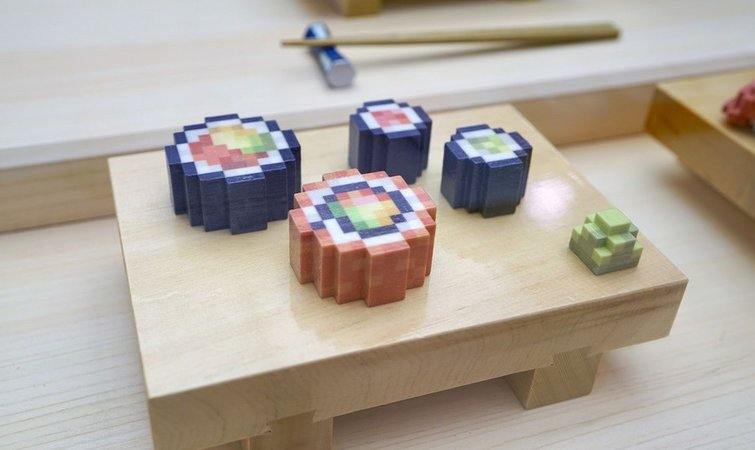 卖相诱人但不可口 3D打印寿司你敢吃吗?