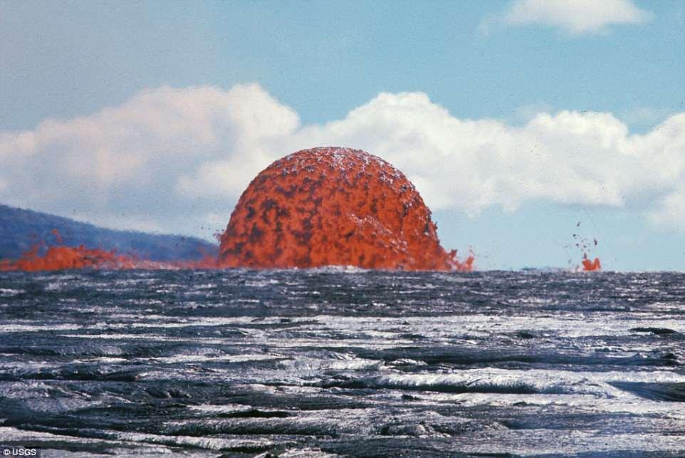 美地质局发布罕见半球型岩浆喷发引众网民关注