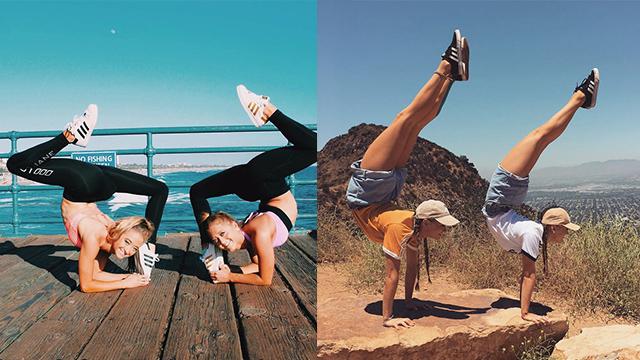 澳双胞胎姐妹玩杂技成网红 超强柔韧度令人惊叹