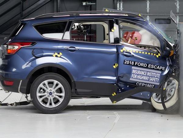 2018款福特Escape在美权威IIHS碰撞测试中获差评