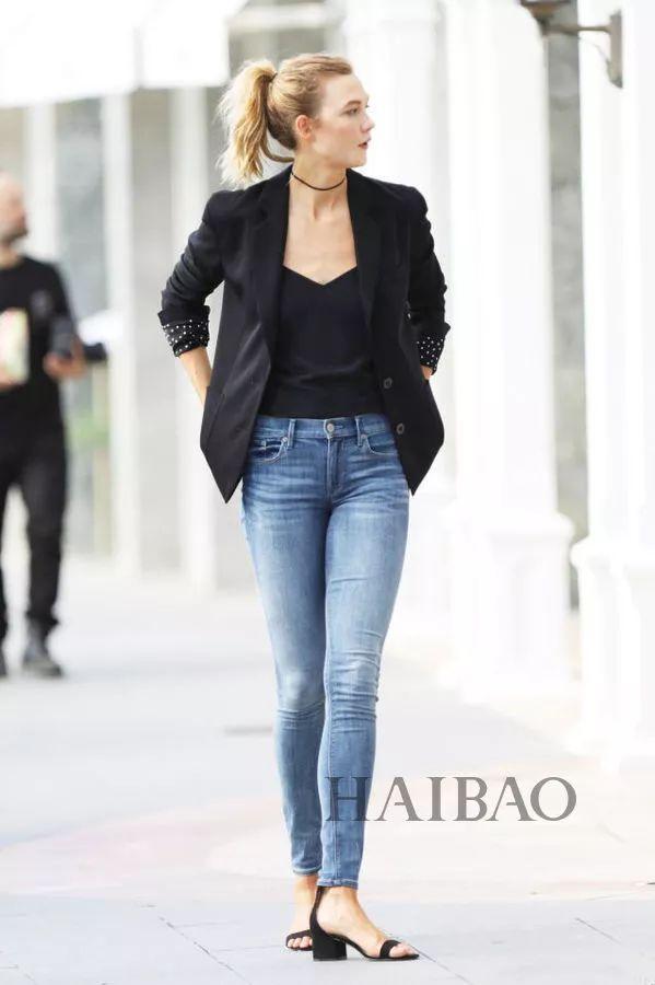 oss) 演绎西装+牛仔裤搭配Look-秘笈 时髦扮酷两不误,西装 牛仔裤图片