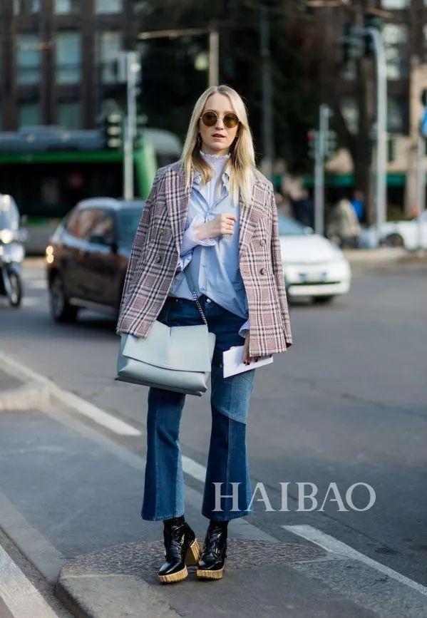 西装+牛仔裤搭配Look-秘笈 时髦扮酷两不误,西装 牛仔裤入春时髦的图片