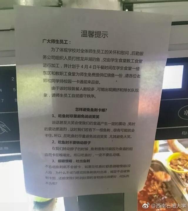 四川高校捞2000斤大鱼 请师生免费吃
