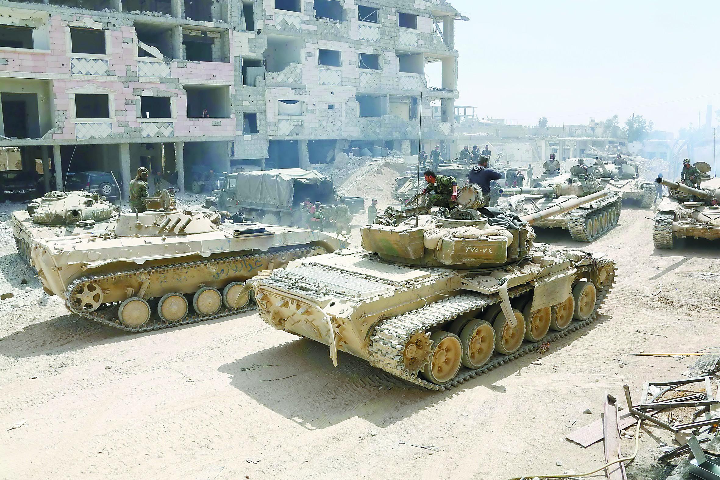 化武疑云引爆叙利亚乱斗 美法俄进行战争准备